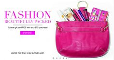 Avon Free Gift with Purchase Offer - Hot Deal Alert: Get Avon Free Shipping on your $20 online order plus receive a free gift valued at $61.98 when you spend $75 or more! Online exclusive...learn more: http://www.makeupmarketingonline.com/avon-free-shipping-avon-free-gift-offer/ #avon #coupon #freegift