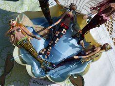 mermaids at via zanella street market,  may 2013