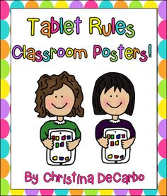 Corkboard Connections: Weekend App Attack: 3 Great Classroom Apps and a free poster of tablet rules from guest blogger Christina DeCarbo
