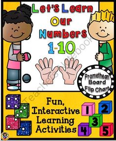 Let�s Learn Our Numbers Promethean Board Flip Chart from A Teacher in Paradise on TeachersNotebook.com -  (48 pages)  - This flip chart is loaded with fun colorful activities for your young learners.  It is designed to help your students learn their numbers 1-10 in an entertaining and interactive manner.
