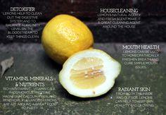 Lemon Benefits: How to use lemons for everything! i love LEMONS!