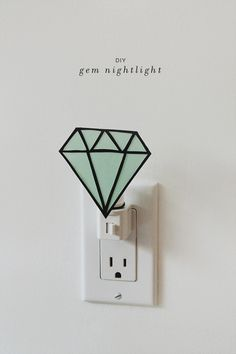 diy gem nightlight \\\ via almost makes perfect