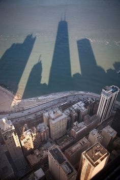beaches, lake michigan, buildings, travel, big city, chicago skylin, place, sweet home, shadows