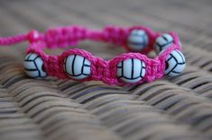 Trendy VOLLEYBALL Bracelet / Trendy VOLLEYBALL by DiamondDivas33, $8.75