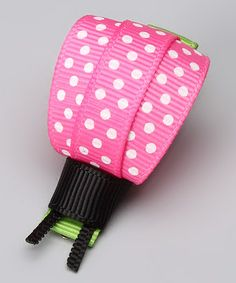 Another great find on #zulily! Pink Polka Dot Ladybug Clip by Bubbly Bows #zulilyfinds