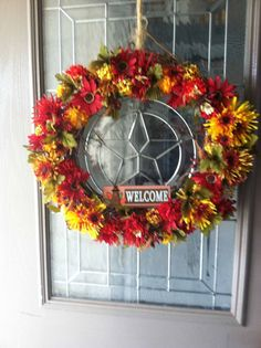 Thanksgiving Fall Flower Wreath by thebestintentions on Etsy, $32.00