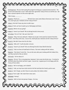 French And Indian War Worksheets 4th Grade | Search Results | Calendar ...
