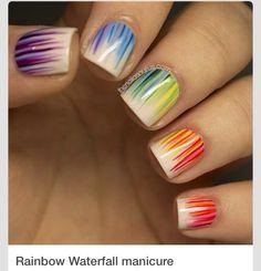 Waterfall Manicure!