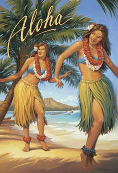 Vintage Hula Poster