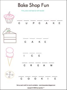 bake shop printable