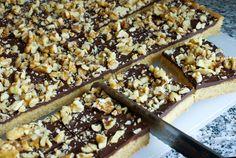Chocolate Walnut Toffee Bars