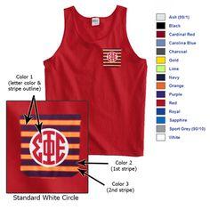 Fraternity Frocket Tank Top $19.95 #fraternity #clothing #custom #greek #gear