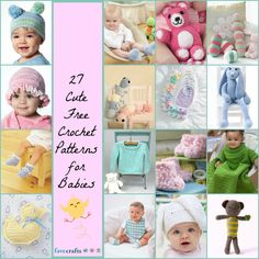 27 Cute Free Crochet Patterns for Babies