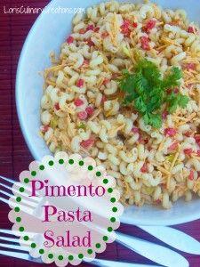 Light Pimento Pasta Salad  l  www.lorisculinarycreations.com  l  #recipe #pasta #salad