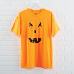 DIY Duck Tape Pumpkin T-shirt to create for Halloween - easy costume idea