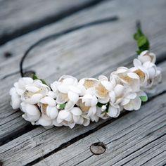 floral wedding head piece 'estelle'