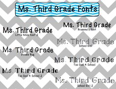 Ms. Third Grade: Fonts Freebie