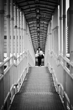 Bridge Crossing - Jakarta by Aldo Artoko, via 500px