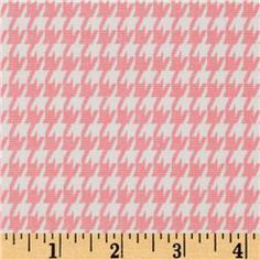 Premier Prints Houndstooth Baby Pink/White  Item Number: UM-278  Our Price: $7.48 per Yard