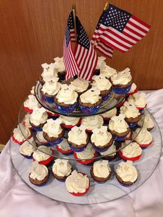 From the Star Spangled Baby Shower at Ft Hood Texas, this is a great idea for any patriotic themed party.
