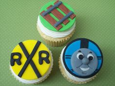 Thomas Train Fondant Cupcake Toppers by robin33smith on Etsy, $22.95
