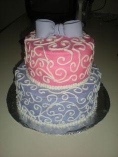 Pink and Purple Birthday Cake