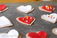 felt valentines cookies