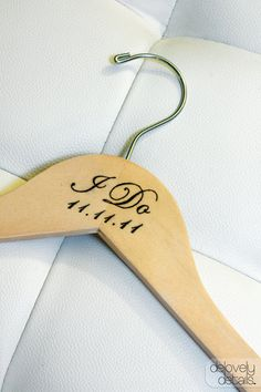 "Personalized ""I Do"" Hanger for Wedding Dress"