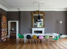 dining rooms, wall colors, interior, grey walls, eam, dining chairs, gray walls, hous, dining room colors