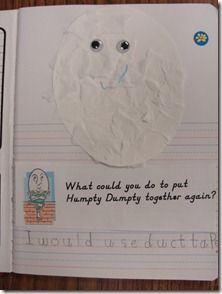 Nursery Rhyme Unit Ideas:  Humpty Dumpty, Jack Be Nimble, Little Miss Muffet, Itsy Bitsy Spider, Hey Diddle Diddle, Little Bo Peep, ETC...