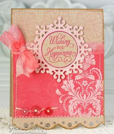 SO pretty! Kraft cardstock works up so nice with a color.