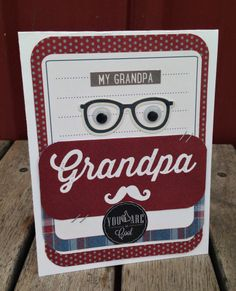 Grandpa Card - Scrapbook.com - Made with Simple Stories supplies.