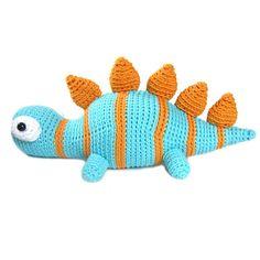 Crochet dinosaur pattern stegosaurus $5