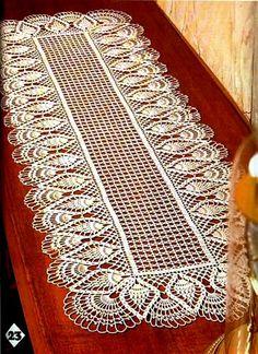 """#24 Magic Crochet Mar,1983"" rectangular centerpiece ♥LCD♥ with diagram"