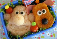 geek, bento box, cartoon characters, lunch boxes, british, food, box art, kids, box lunches