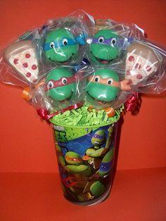 Teenage Mutant Ninja Turtles (Cake Pops)