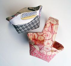 Scalloped Edge Basket Tutorial | Sew Mama Sew | flower girl basket, pattern, scallop edg, fabric basket, basket tutori