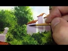 How to paint view in Watercolor Part4 watercolor techniqu, paint view, watercolor part4