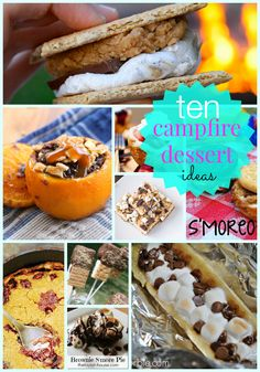 Campfire Desserts, camping with kids
