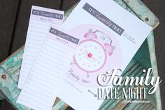 If your kids are anything like ours, once you started dating more as a couple, they became jealous and wanted their own date nights! Use this free printable and planner to start making Family Date Night a priority at your house! www.TheDatingDivas.com #familydatenight #datenight #freeprintables