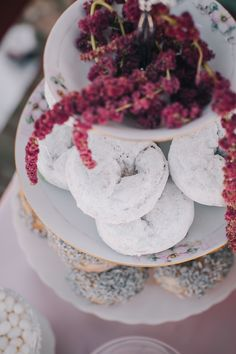 Russian Winter Olympics Wedding Ideas, powdered donuts!    Photography by JFHannigan Photography  Read more - http://www.stylemepretty.com/little-black-book-blog/2014/02/07/russian-winter-olympics-wedding-ideas/