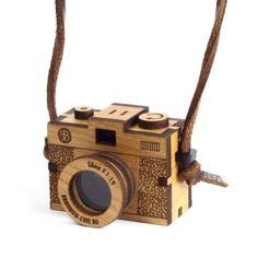 Wooden 35mm camera designed by bRainbow for Hannah Zakari.