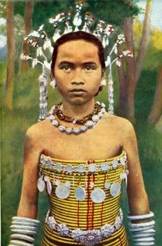 Picture of Dayak girl