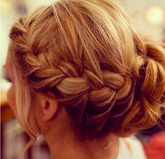 side braid/bun