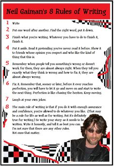 Neil Gaiman's writing tips