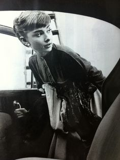 black and white vintage photography - audrey