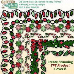 Old Saint Nick's Christmas Holiday Frames Clipart #clipart #teacherspayteachers #christmas #tpt #edu