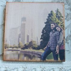 How to create #DIY photo overlays on wood blocks! All you need is 1. Gel Medium 2. Mod Podge 3. Scrap wood and your favorite photos!
