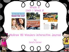 This 5th grade interactive journal is aligned to Common Core and to the McGraw Hill Wonders series for Unit 1-Week 5. This highly INTERACTIVE journal is ideal for teaching all of this week's skills in a powerful, student-friendly way!