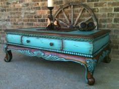 junk gypsy painted furniture | purchased this coffee table from a local 2nd hand store, I added new ...
